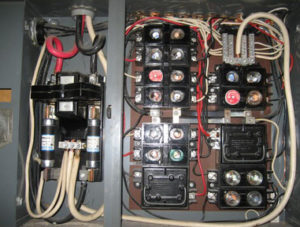 electrical fuse panel box