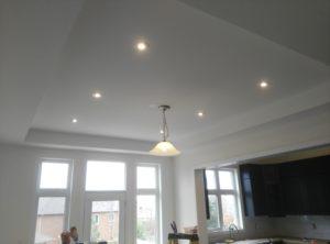dining room potlights intallation