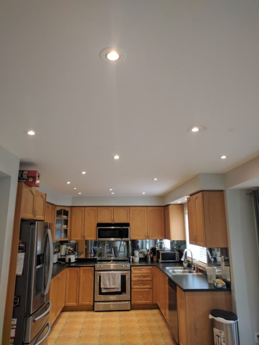 recessed lights kitchen led in misssissauga ontario