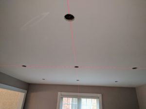laser pot lighting layout