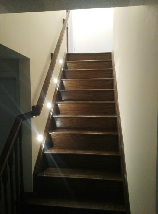 stair lighting in burligton ontario